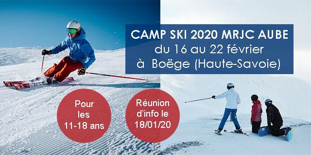 camp de ski 2020 mrjc aube
