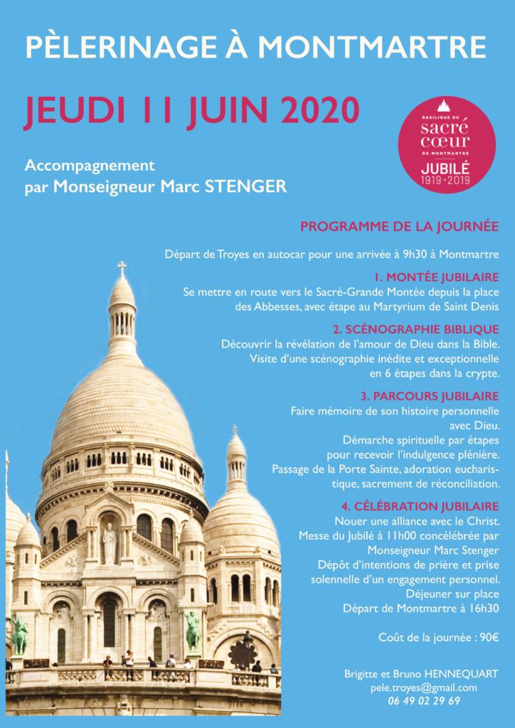Affiche pèlerinage Montmartre juin 2020