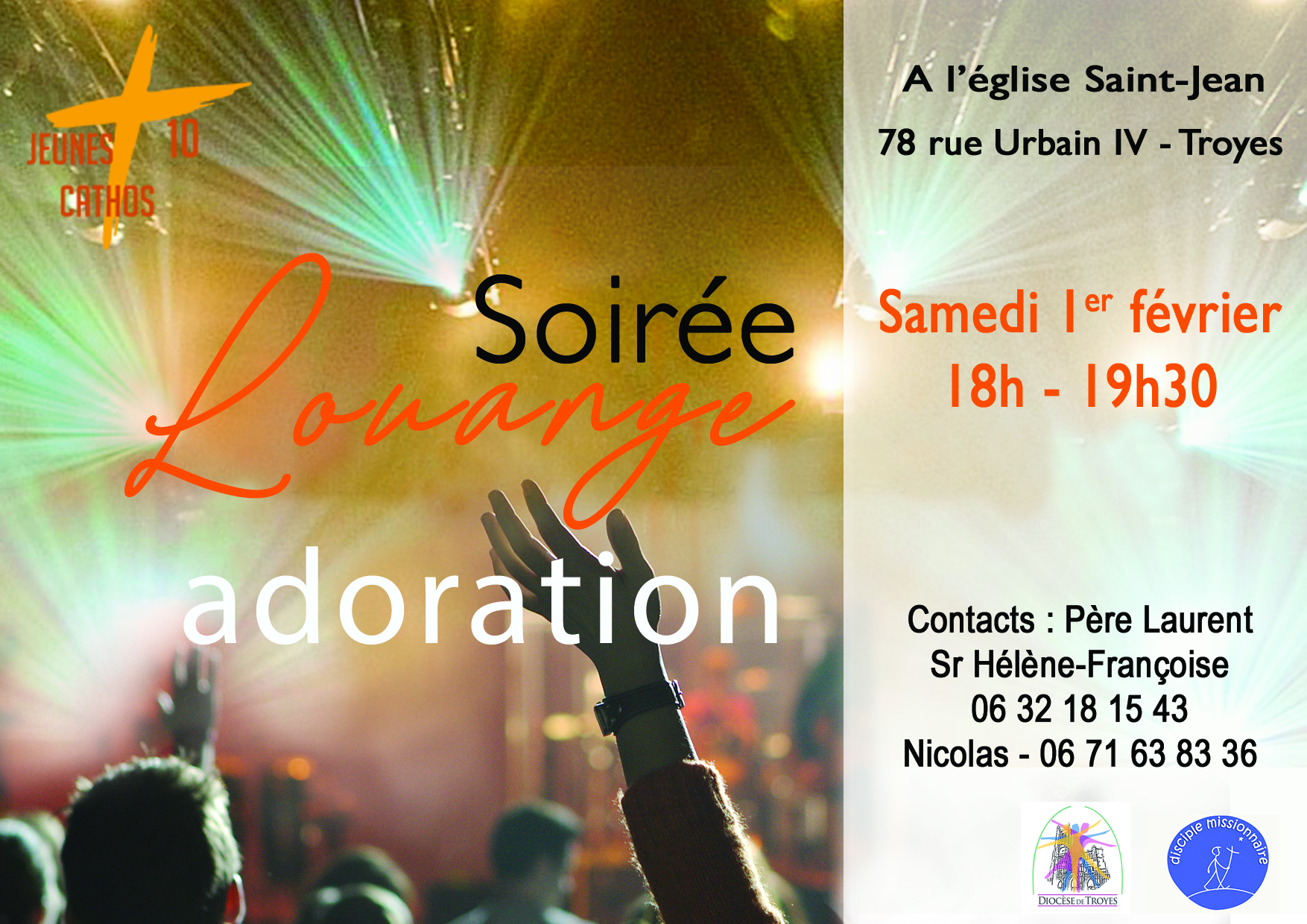 Soirée Louange Adoration du samedi 1er février 2020